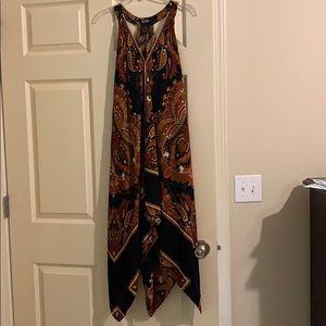 Halter Style Dress w/ Handkerchief Hem